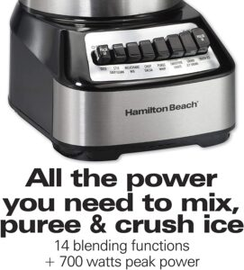 14 Blending functions and 700 watts