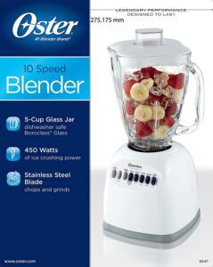 features of the 10 speed oster blender