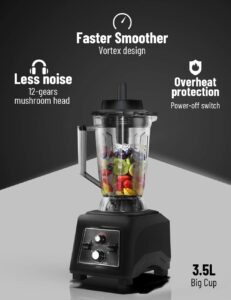 features of the WantJoin High Speed Commercial Blender