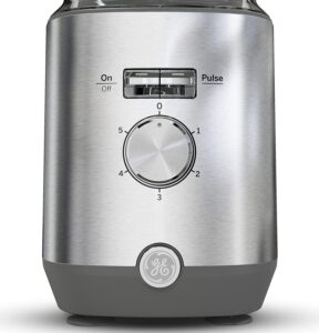 The GE Blender comes with 5 Speed settings