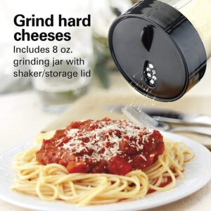 Grinds hard cheese